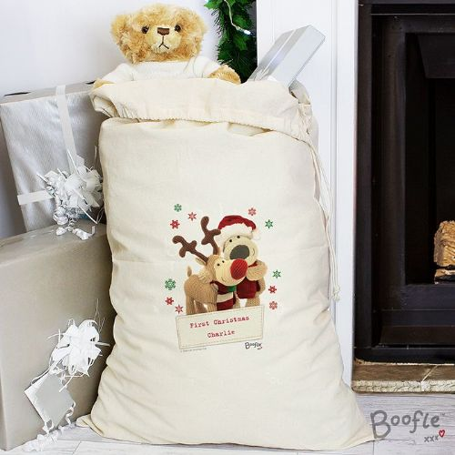 Boofle Christmas Reindeer Cotton Sack
